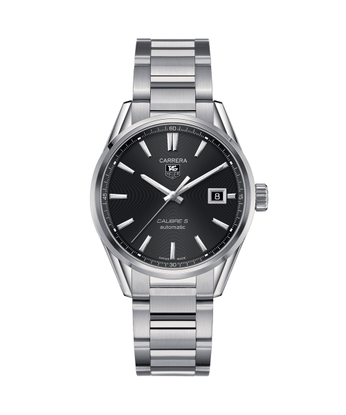 Tag Heuer Carrera Automatisk Sort Skive Stål 39 MM-WAR211A.BA0782
