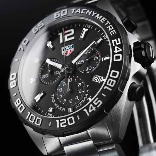 Tag Heuer Formula 1 Chronograph Quartz Sort Skive Stål 43 MM-CAZ1010.BA0842 1