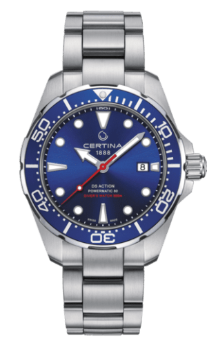 Certina DS Action Diver Powermatic 80 Automatisk Blå Skive Stål 43 MM C032.407.11.041.00