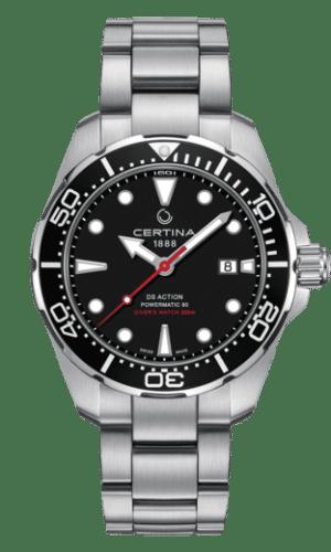 Certina DS Action Diver Powermatic 80 Automatisk Sort Skive Stål 43 MM C032.407.11.051.00