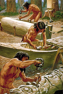 Noordwestkust Amerika totems boten