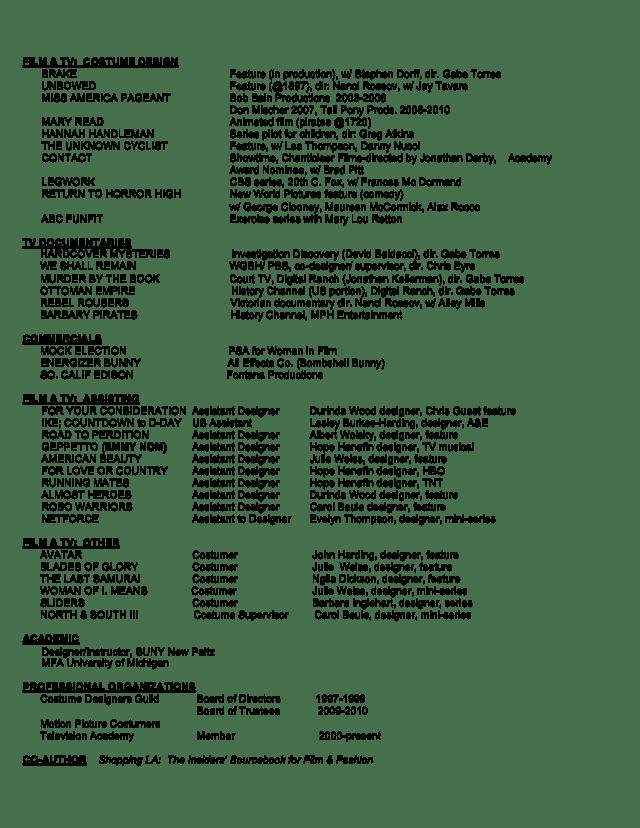 Film Resume