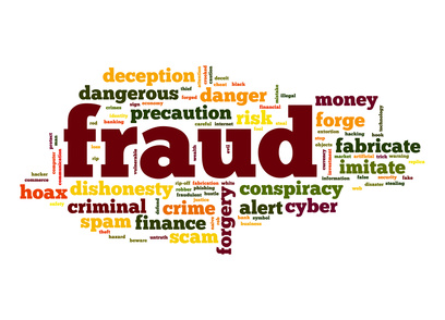 Fraud word cloud