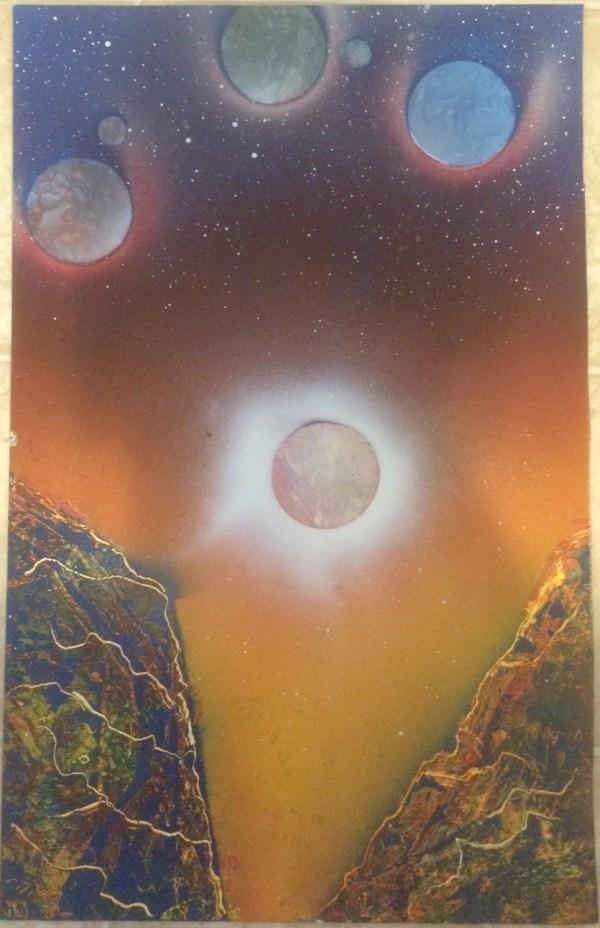 Marbled Planets Spray Paint Art - Marc Zirin
