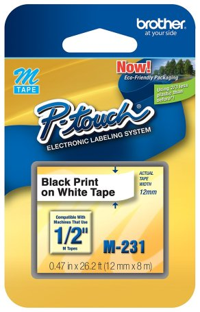Brother Genuine P-touch M-231 Tape