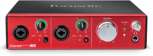 focusrite clarett 2pre usb hero audio interface - front 01