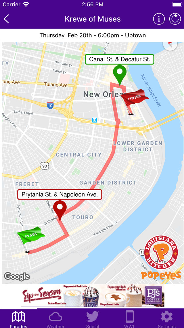 Mardi Gras Parade Routes : mardi, parade, routes, Mardi, Parade, Tracker