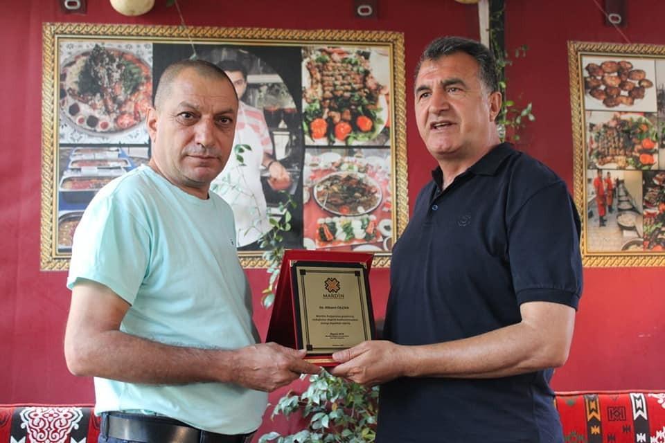 Kızıltepe'nin tanınan ustasına 'bulgur' plaketi