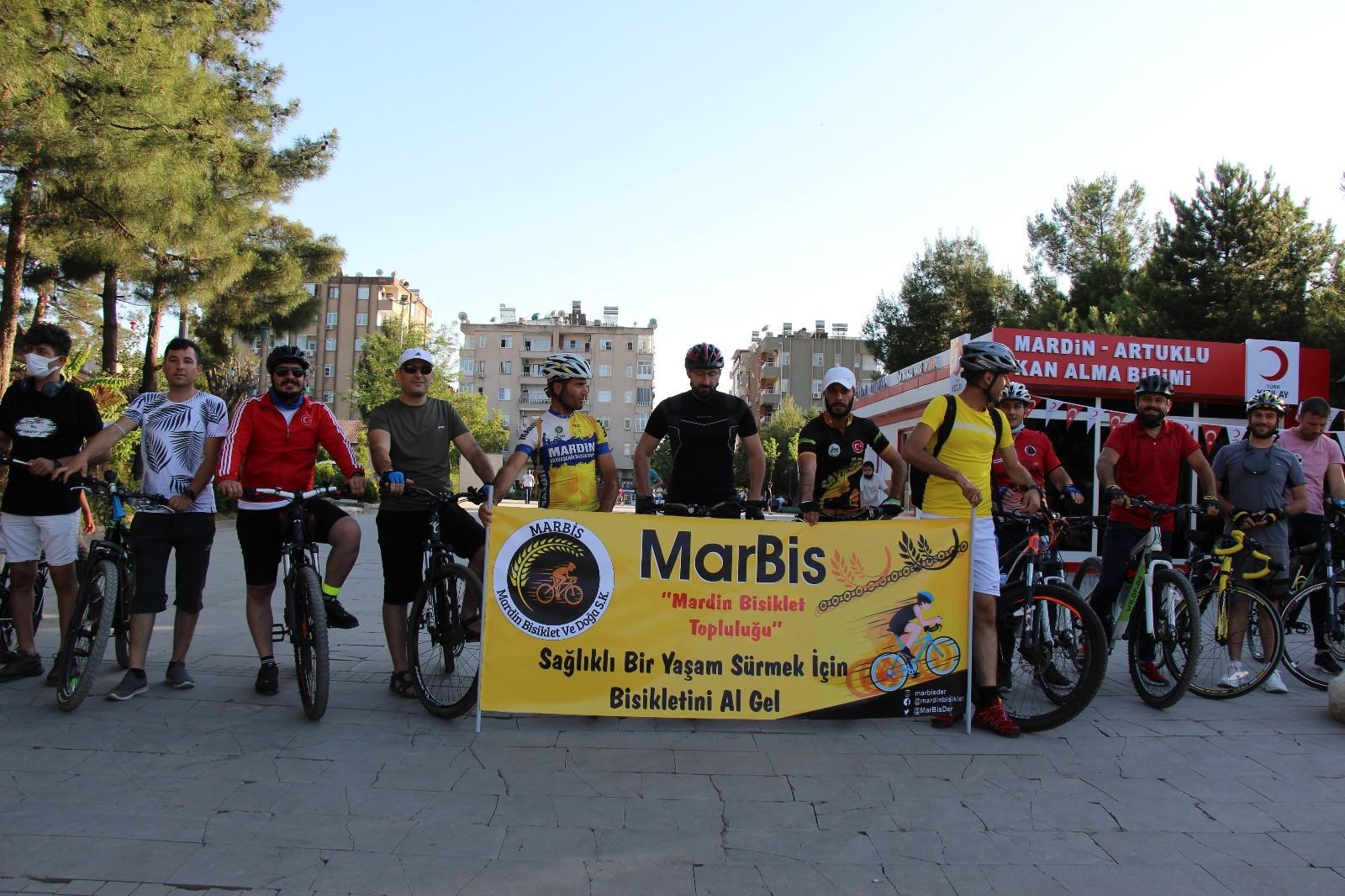 Mardin'de Dünya Bisiklet Günü kutlandı