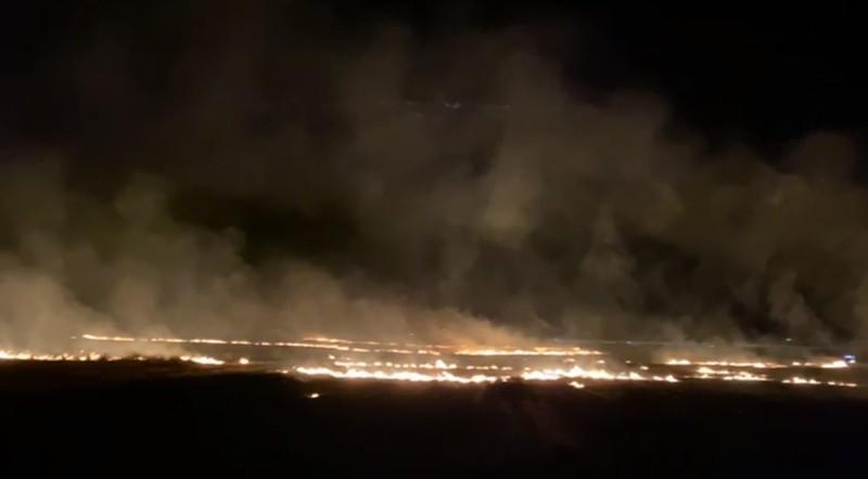 Mardin'de geceyi alevler aydınlattı