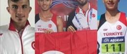 Umut Temel, yürüyüş sporunda Türkiye Şampiyonu