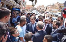 Bakan Albayrak Mardin'de esnafla bir araya geldi
