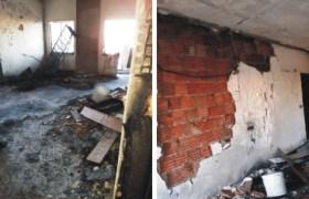 Yangın mağduru aile yardım bekliyor