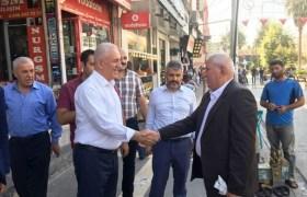 İl başkanı Eri'den Kızıltepe esnafına ziyaret