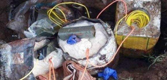 25 kilogram patlayıcı ele geçirildi