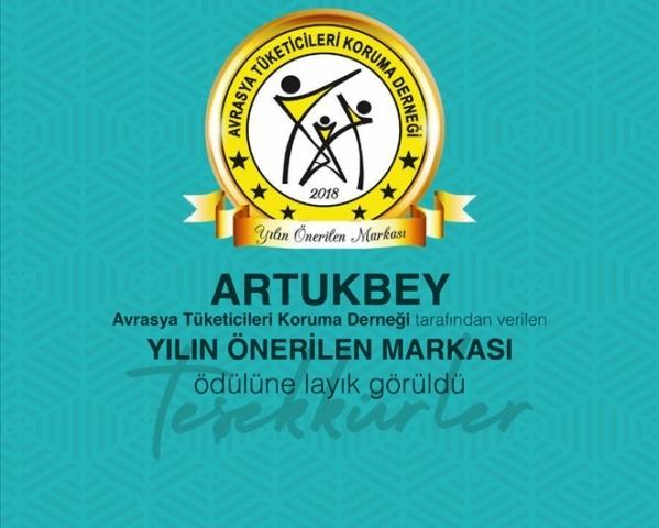 """Artukbey'e """"önerilen marka"""" ödülü"""