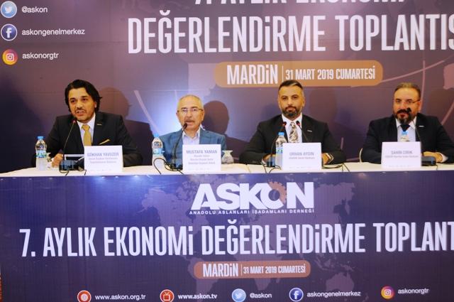 ASKON Ekonomiyi Mardin'de Değerlendirdi
