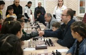 Ömerli'de Satranç turnuvası