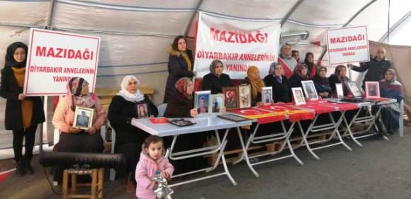 Mazıdağlı kadınlardan, Diyarbakır  annelerine destek