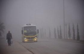 Nusaybin'de sis etkili oldu