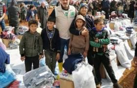 Yardımlar İdlib'e ulaştırıldı