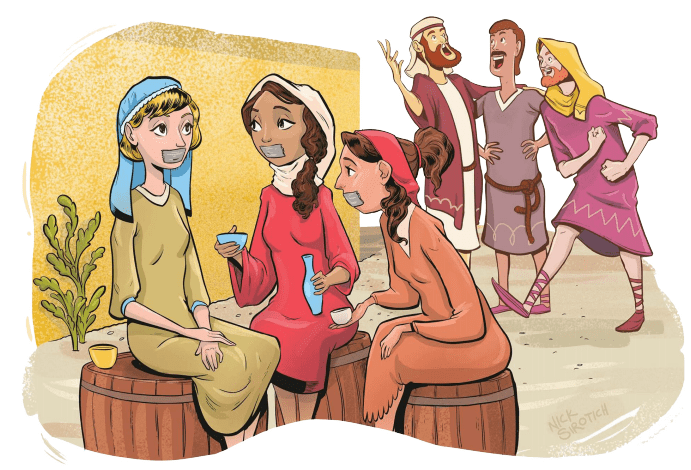 Bible stories - Equal rights for women are a little underdeveloped