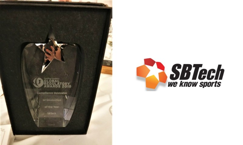 SBTech wins Compliance Innovator of the Year prize at Gambling Compliance Global Regulatory Awards 2018