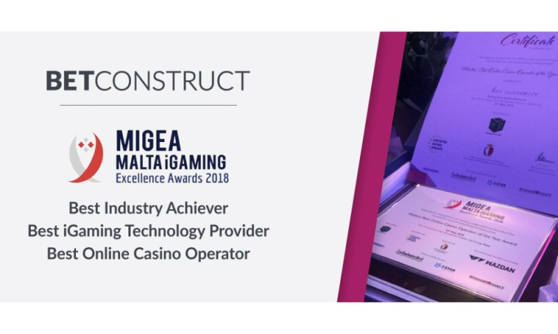 BetConstruct wins three awards at Malta's iGaming Excellence Awards