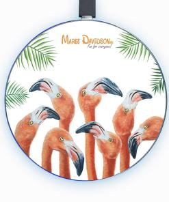 GROUP CHAT FLAMINGOS-WIRELESS CHARGER-MAREE DAVIDSON