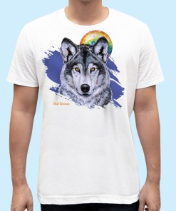Leader of the Pack the Wolf-t shirt-maree davidson art