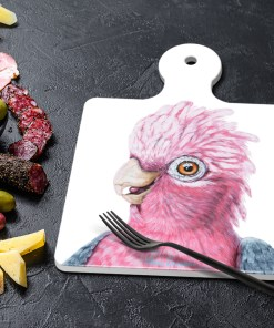 DIXIE THE GALAH - SQUARE TRIVETS WITH HANDLE-MAREE DAVIDSON ART
