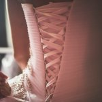 mariage, robe, lacets,