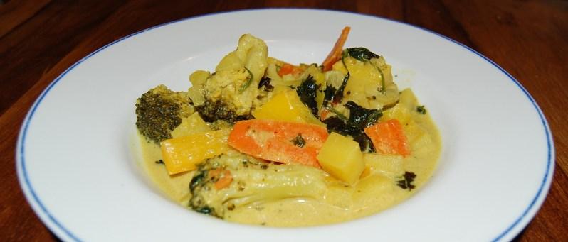 Quick and light Thai veggie curry recipe