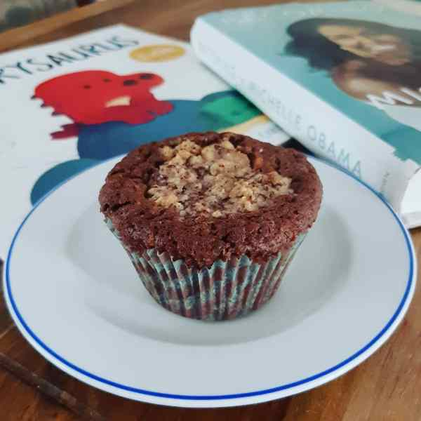 Double hazelnut muffins