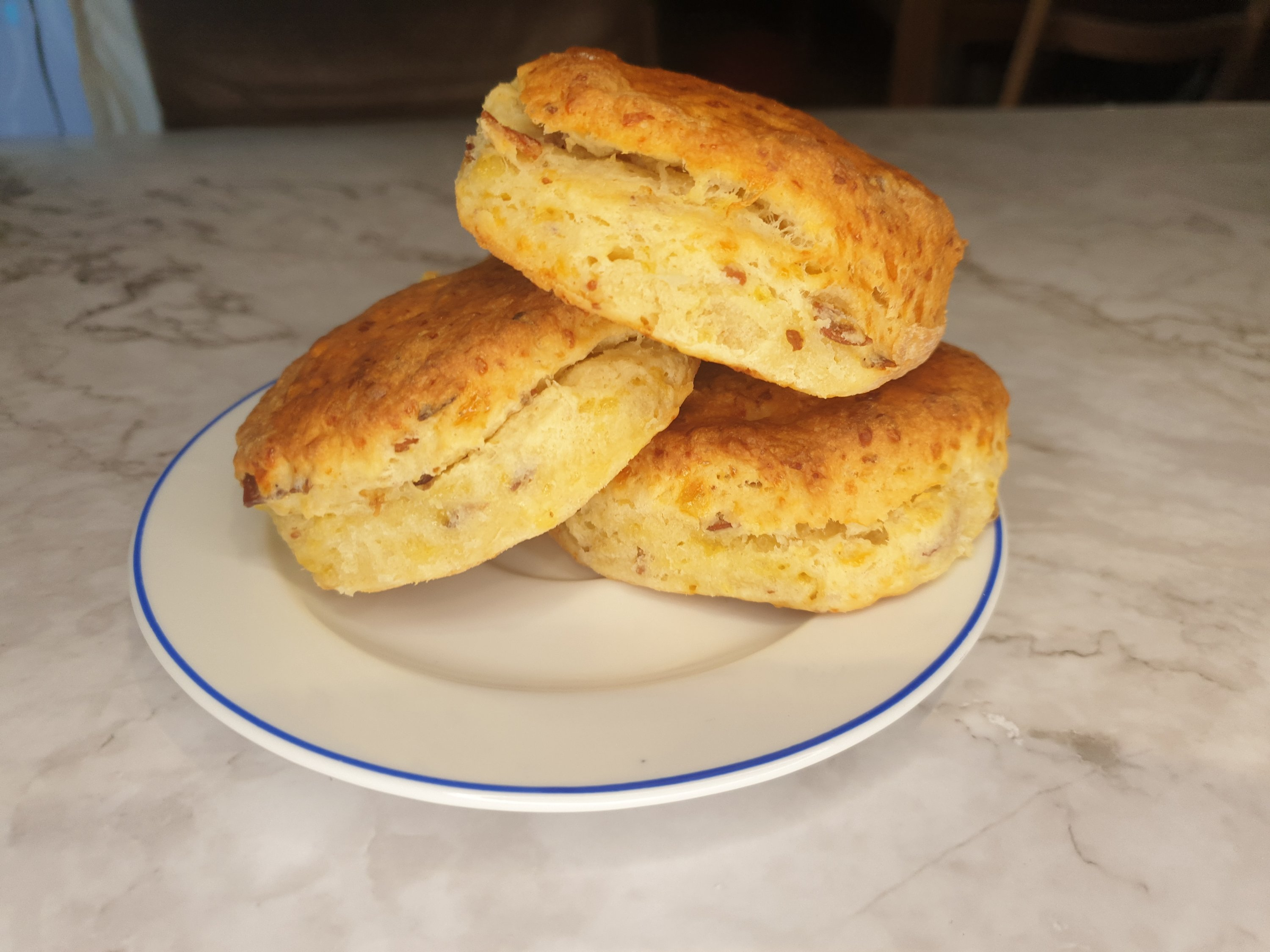 Southern biscuits with cheddar and bacon