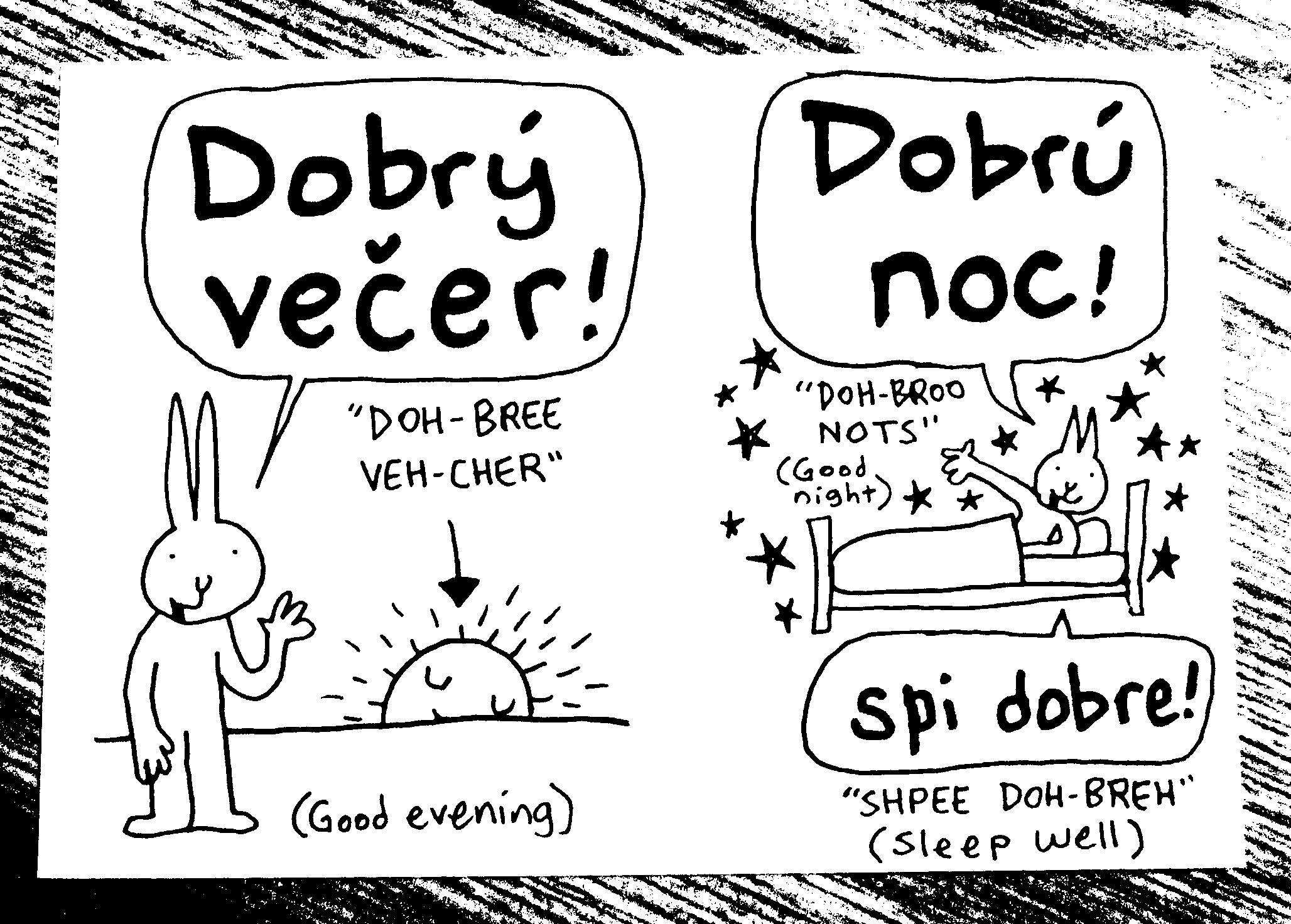 Slovak phrasebook (new mini-comic!)