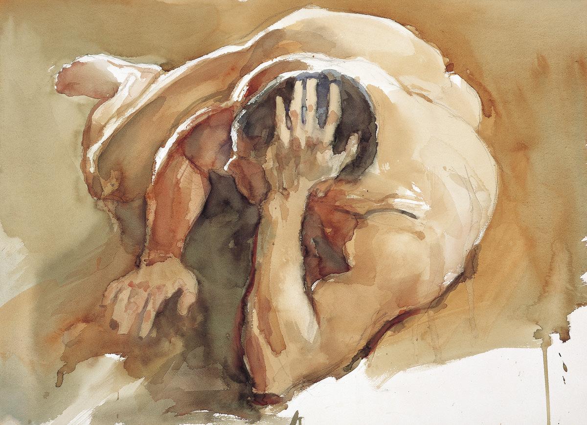 Man in Nude No.3, 57X76 cm