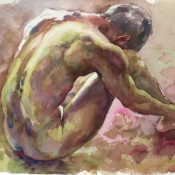 Man in Nude No.2, 57X76 cm
