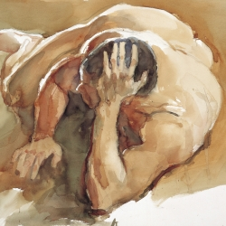 Man in Nude No.3, 57X76 cm