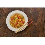 Receta de noodles con langostinos y setas