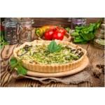 Receta de quiche de verduras con harina de garbanzo