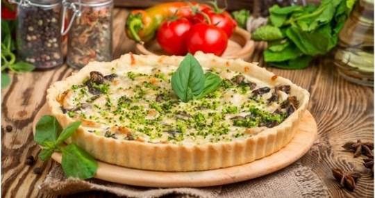 Receta de quiche de verduras con harina de garbanzo - Mares Lingua - Recetas de cocina fáciles de hacer
