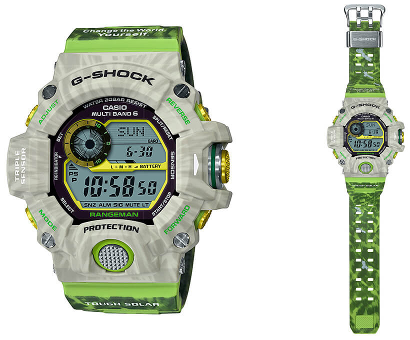 , G-Shock Rangeman GW-9404KJ-3JR Edición Earthwatch para Love the Sea and The Earth 2019