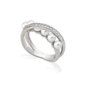 "Anillo Majorica ""Exquisite"" 4mm – Plata de ley – 16047.01.2.913.010.1"