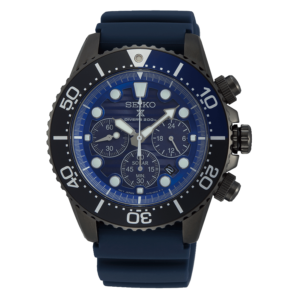 Seiko prospex solar save the ocean black edition SSC701P1