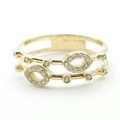 Anillo oro amarillo con diamantes talla brillante AN501-1-