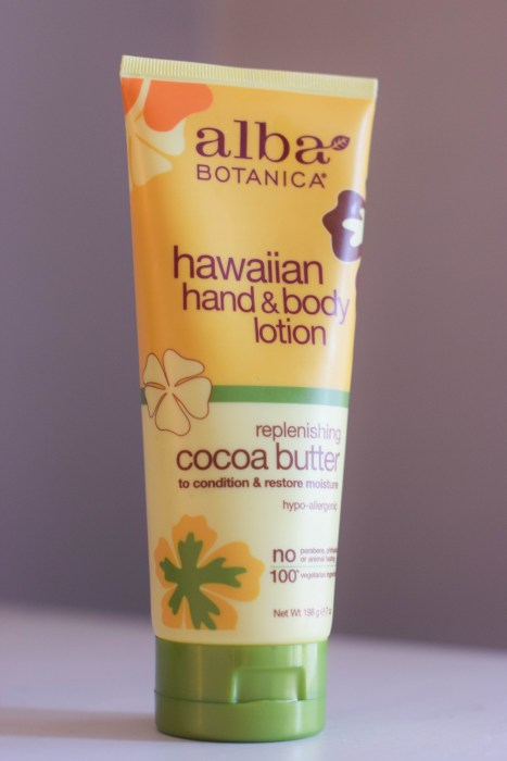 Cruelty-Free Beauty Haul, including Alba Botanica Hawaiian Hand and Body Lotion.