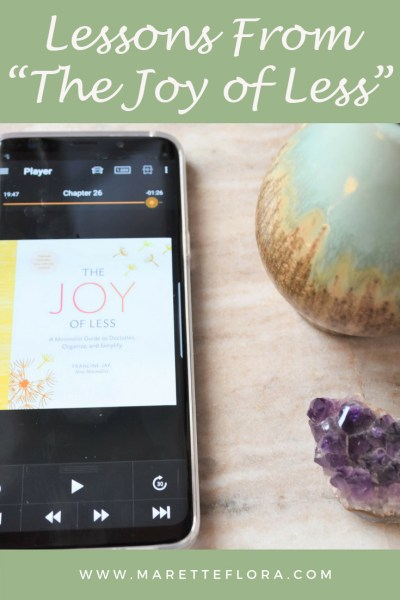 """Lessons from """"The Joy of Less"""" 