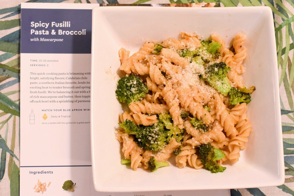 Spicy Fusilli Pasta & Broccoli Blue Apron