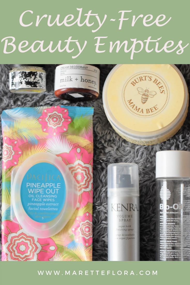 Recent Cruelty-Free Beauty Empties